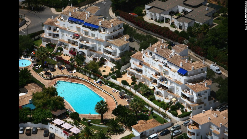 The resort and surrounding area where Madeleine went missing is seen in August 2007.