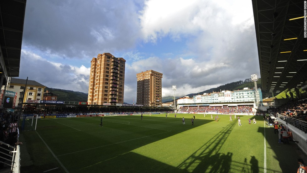 Eibar's Ipurua stadium holds just 5,200 spectators but has an atmosphere that can prove intimidating to visiting teams, something the club hopes Real Madrid and Barcelona will find out next season.
