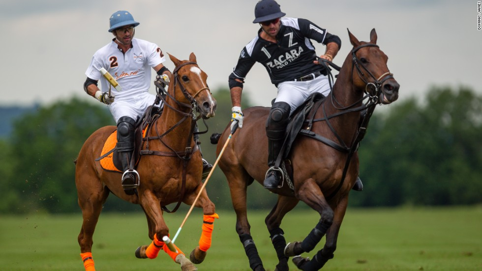 Facundo Pieres (right) has won every major championship in polo and is one of a handful of players in the world to hold the maximum 10-goal handicap.