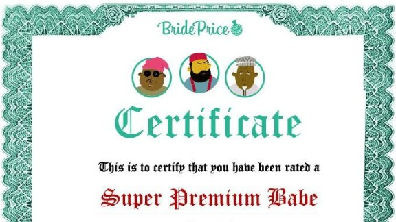 Bride Price: the app that calculates your worth and gives you a certificate to prove your status to potential suitors