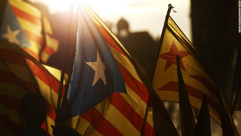 "JUNE 2 - BARCELONA, SPAIN: Supporters of an independent Catalonia celebrate the abdication of Spanish King Juan Carlos I, who said <a href=""http://edition.cnn.com/2014/06/02/world/europe/spain-king-abdication/index.html?hpt=hp_t3"">he would hand over the crown to his son Prince Felipe</a>.<br />Catalonia, Spain's richest region, is demanding a referendum on its independence, which Madrid staunchly opposes."