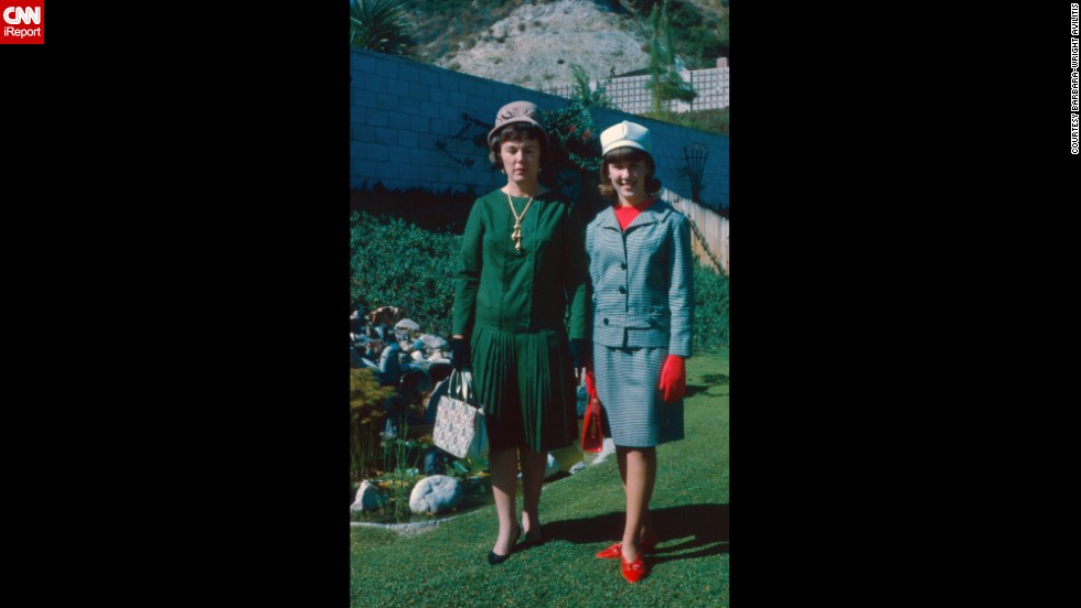 "<a href=""http://ireport.cnn.com/docs/DOC-1139587"">Barbara Wright-Avlitis</a> is proud of this fashionable photo from September 1965. It was taken for a mother-daughter formal luncheon. Her aunt provided the clothes so she might fit in at the ""rather exclusive high school"" she ended up attending. ""Most of the girls who went to the school were rich and from upper-class families but my family was a pretty average middle-class bunch. We weren't used to putting on airs or hobnobbing with celebrities. In fact, we were pretty nervous about the whole thing because mom wanted to make me proud and I just wanted to blend in."""