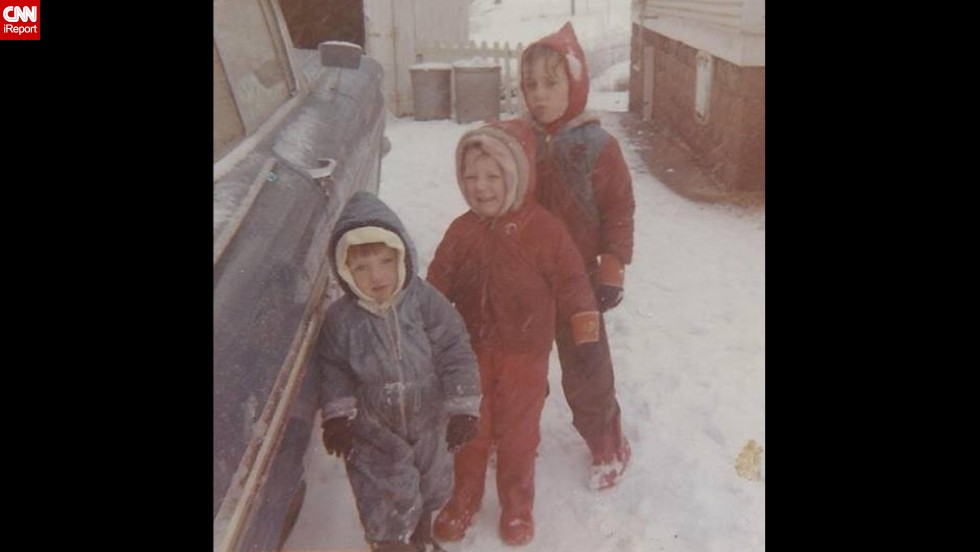 "This wintry scene in Ballwin, Missouri, in 1967, came from <a href=""http://ireport.cnn.com/docs/DOC-1137807"">Carol Bock</a>, front, who said her mother would put bread bags on their feet to keep them warm. ""I remember playing in the snow and throwing snowballs,"" she said. ""I never liked it when my brothers threw the snowballs back at me."" (Click the double arrows for more photos.)"