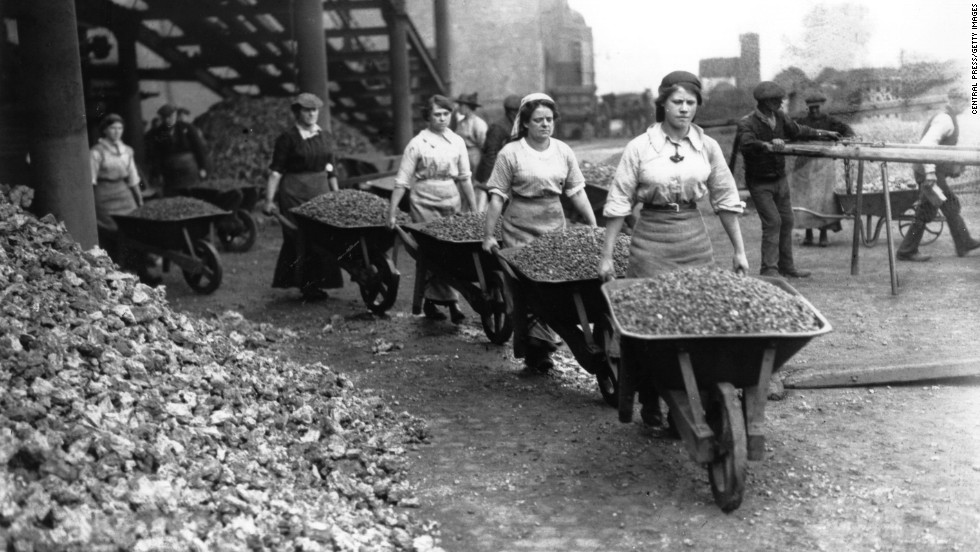 Women Navvies Work On Railway Building In