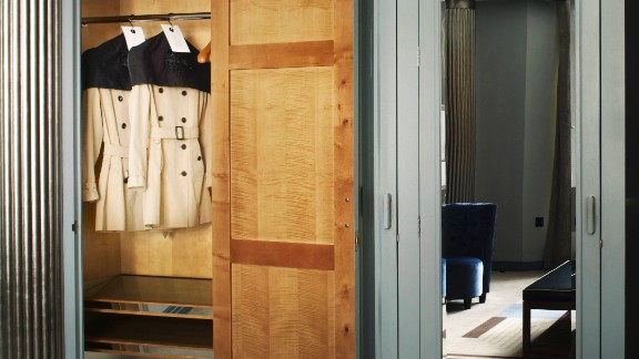 The Claridge's Hotel also recently instituted a loan program that allows hotel guests to borrow Burberry trench coats.