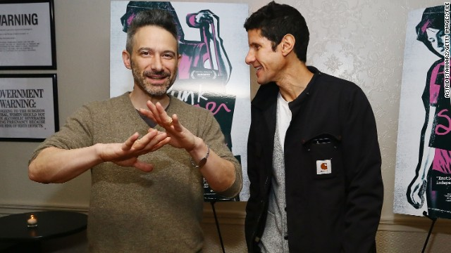 "Shown here are (from left) Beastie Boys Adam ""Ad-Rock"" Horovitz and Michael ""Mike D"" Diamond. Tracks from the hard-edged Brooklyn rap rockers are now classics."