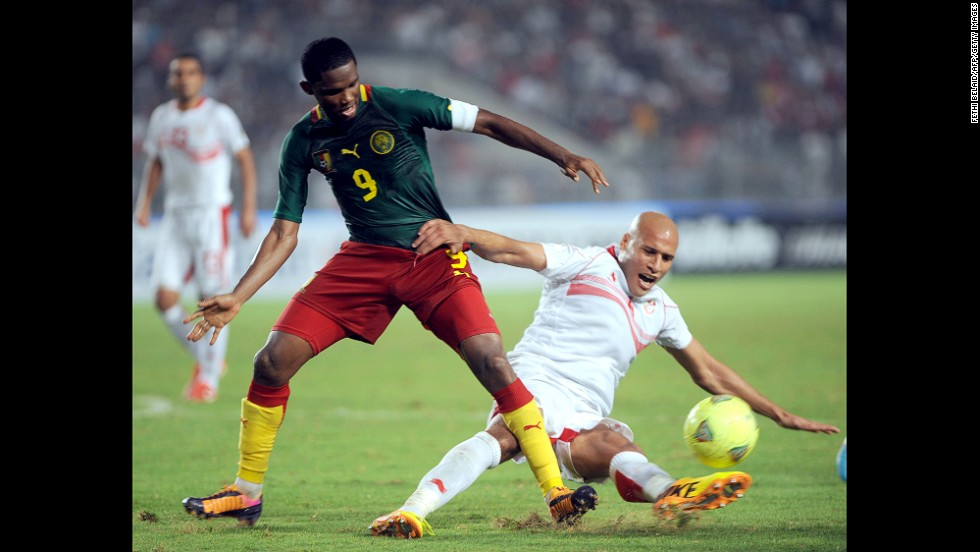 "<strong>Samuel Eto'o (Cameroon):</strong> The first World Cup for Eto'o, left, was in 1998, but don't call him old. He'll make you look silly, as he did in May when he mocked his Chelsea coach, Jose Mourinho, with an <a href=""http://i2.cdn.turner.com/cnn/dam/assets/140308151112-etoo-reaction-story-top.jpg"" target=""_blank"">old-man goal celebration</a>. If you ask Eto'o, he has two more World Cups in him. The 33-year-old will prove integral to the Indomitable Lions' campaign, having notched 56 goals in 117 caps (not to mention 300+ goals for clubs in Russia, Italy, Spain and England)."