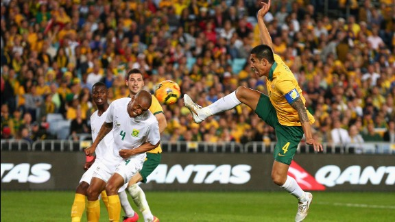 Tim Cahill (Australia): Cahill, right, is the Socceroos