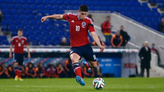 James Rodriguez (Colombia): He looks like a kid but brings a mature game for a 22-year-old. Lightning-quick with deft ball control and passing, he
