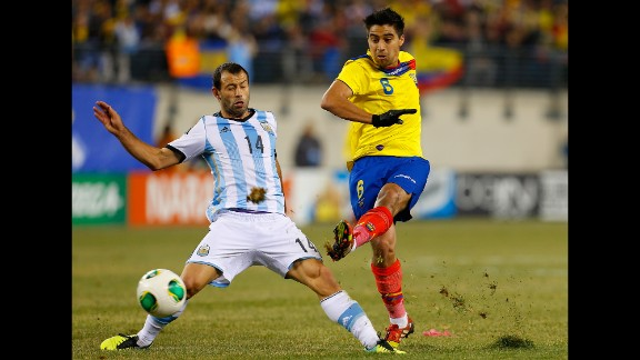 Christian Noboa (Ecuador): Noboa, right, plies his trade in Russia and is known for creativity, solid passing and vision. He