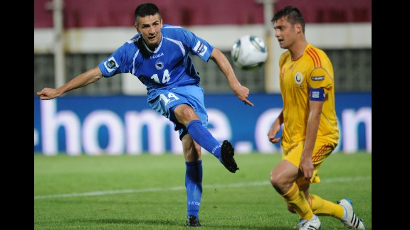 Vedad Ibisevic (Bosnia and Herzegovina): An ex-NCAA freshman of the year with Saint Louis University, Ibisevic, left, served stints in the lower leagues of France and Germany before entering the Bundesliga. Since joining Stuttgart in 2012, he