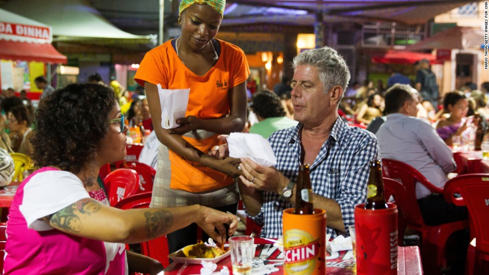 5dec7a2c In the capital city of Salvador, Bourdain samples acarajé, a popular street  food that