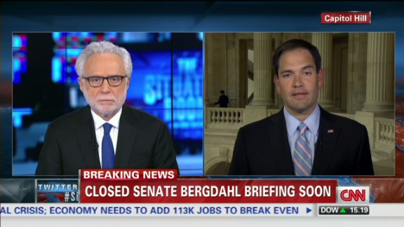 exp TSR INTV Sen. Marco Rubio slams Obama for Bergdahl swap_00002001.jpg