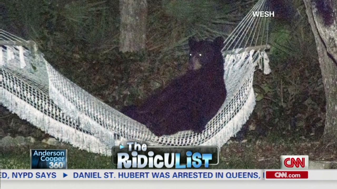 man spots bear relaxing in his hammock   cnn video  rh   cnn