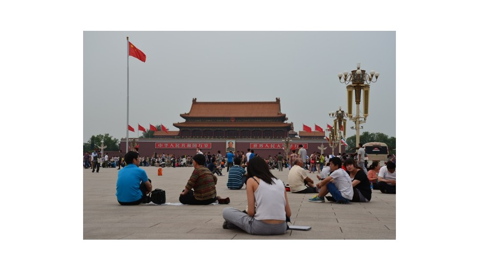 Tiananmen Square was populated with tourists on June 4 this year. In 1989, the same space was occupied by student hunger strikers demanding democracy.
