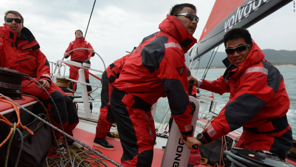 Team manager Bruno Dubois says the boat's novice Chinese sailors have been trained in 10 months, where many teams take 10 years. Some hopefuls abandoned the team after their first offshore voyage.