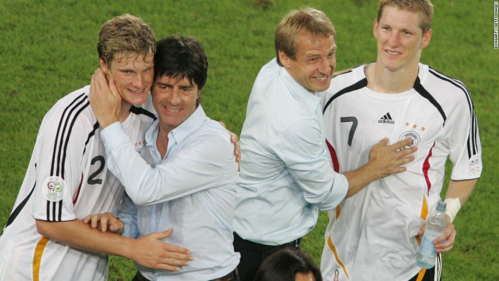 Under Klinsmann and assistant Joachim Low, second from left, Germany enjoyed a successful World Cup on home soil in 2006, too, reaching the semifinals.
