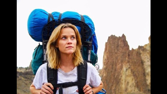 """""""Wild"""" (December 5): Writer Cheryl Strayed's harrowing physical and emotional journey on the Pacific Crest Trail is captured through a performance from Reese Witherspoon."""