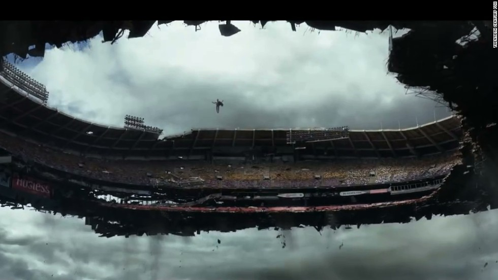 "In ""X-men: Days of Future Past,"" Magneto destroys RFK Stadium, but first he levitates it and drops it  around the White House."