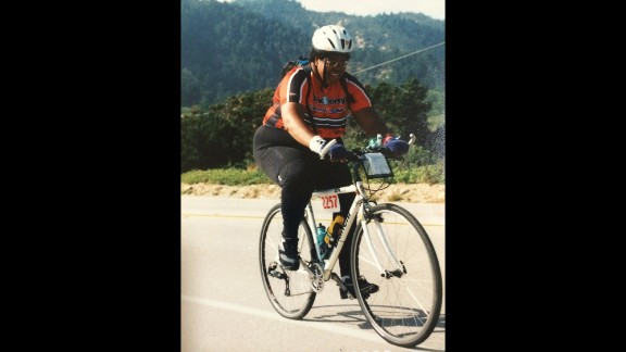 """Around 2000, when Monifa did this AIDS ride, she had gotten so heavy she stopped weighing herself.  """"I was pretty sure I was beyond 400 pounds, but I quit weighing myself when I got to 389."""""""