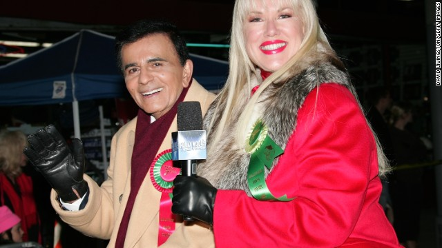Casey and Jean Kasem ride in the 2007 Hollywood Santa Parade in Hollywood, California.
