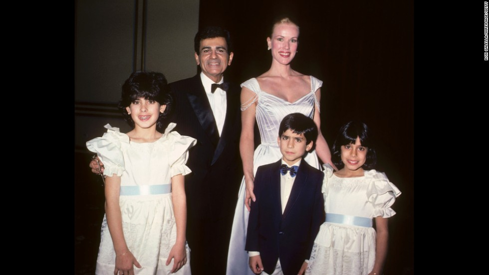 Casey and Jean Kasem are shown with children Kerri Kasem, Michael Kasem and Julie Kasem at the Lebanon-Syrian American Society of Greater Los Angeles Man of the Year Awards in Beverly Hills, California, in 1985. The children are all from Casey Kasem's first marriage, to Linda Myers.