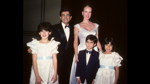 Casey and Jean Kasem are shown with children Kerri Kasem, Michael Kasem and Julie Kasem at the Lebanon-Syrian American Society of Greater Los Angeles Man of the Year Awards in Beverly Hills, California, in 1985. The children are all from Casey Kasem