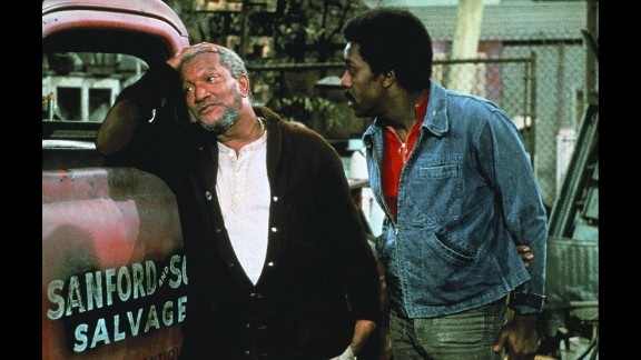 """""""Sanford and Son"""": The 1970s NBC sitcom followed the generational gap of salvage dealer Fred Sanford (played by Redd Foxx) and his son Lamont (Demond Wilson) after Sanford's wife, Elizabeth, passed away. In moments of frustration with his son as a dropout and reluctant business partner, Sanford would feign a heart attack and declare, """"I'm coming to join ya, honey!"""""""