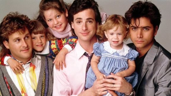 """""""Full House"""": Living up to its name, viewers of the ABC series watched widower Danny Tanner (played by Bob Saget) raise his three daughters with the in-house help of childhood friend Joey Gladstone (Dave Coulier) and brother-in-law Jesse Katsopolis (John Stamos)."""
