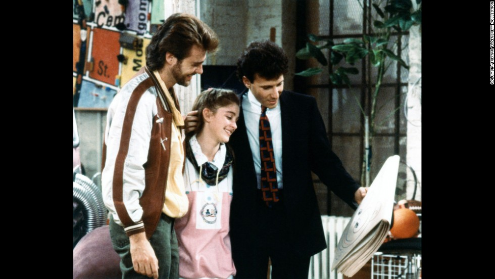 "<strong>""My Two Dads"": </strong>When Nicole (Staci Keanan) is left without a parent after her mom passes away, a judge in this sitcom orders joint custody to two men, played by Paul Reiser and Greg Evigan, who were after the affections of Nicole's mom."