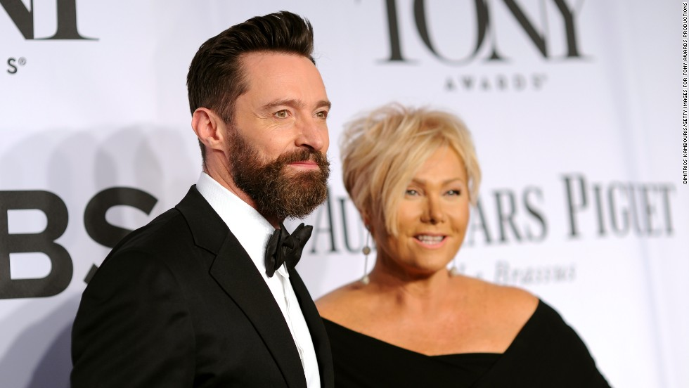 Hugh Jackman and Deborra-Lee Furness arrive for the 68th annual Tony Awards at Radio City Music Hall on June 8, 2014 in New York City.  Take a look at the other stars as they arrive.