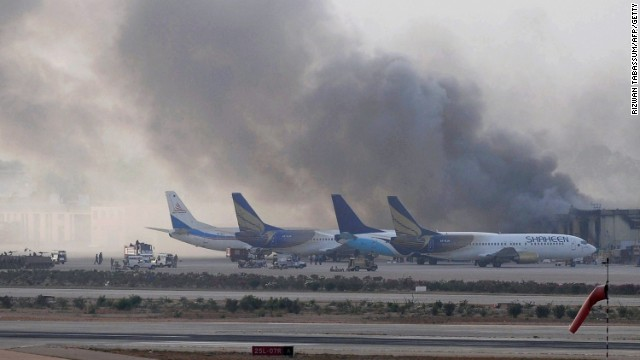 Militants attack Karachi airport