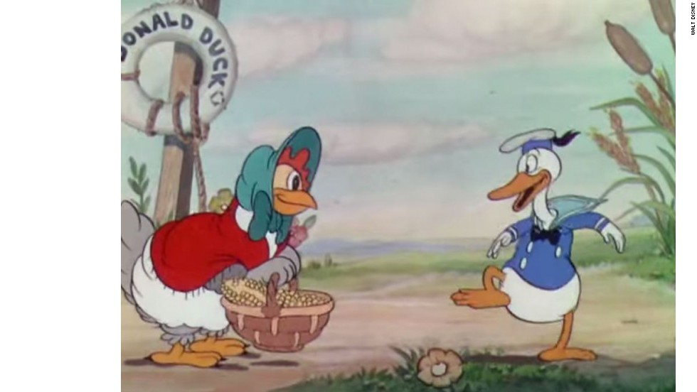 "Donald Duck apareció por primera vez en ""The Wise Little Hen"", de 1934."