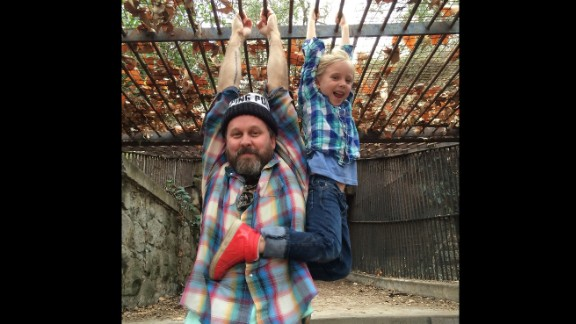 Matt Logelin, 36, and daughter Maddy, 6