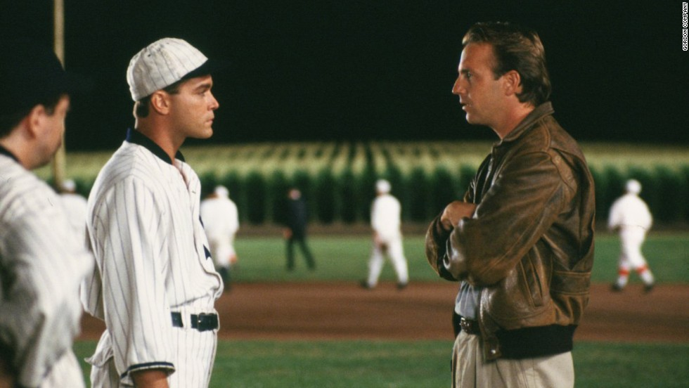 "<strong>""Field of Dreams"" (1989)<strong></strong>: </strong>Some can't even talk about this movie without choking up. The premise may seem hokey -- an Iowa farmer creates a baseball diamond in the middle of his cornfield and discovers it has a magical, comforting power for the suffering -- but the execution, led by Kevin Costner, right, will get you every time."