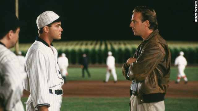"A scene from the film ""Field of Dreams."""