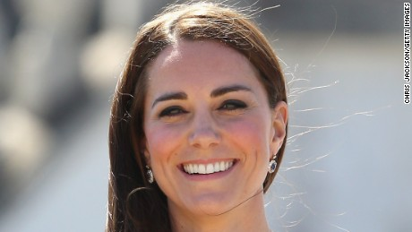 LONDON, ENGLAND - JUNE 10: Catherine, Duchess of Cambridge poses next to the America's Cup as she visits the National Maritime Museum in Greenwich for the Ben Ainslie America's Cup Launch on June 10, 2014 in London, England. (Photo by Chris Jackson/Getty Images)