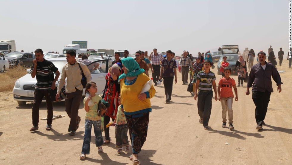 Many people are fleeing on foot. Mosul's four main hospitals are inaccessible because of fighting, and some mosques have been converted to act as clinics, the International Organization for Migration said.
