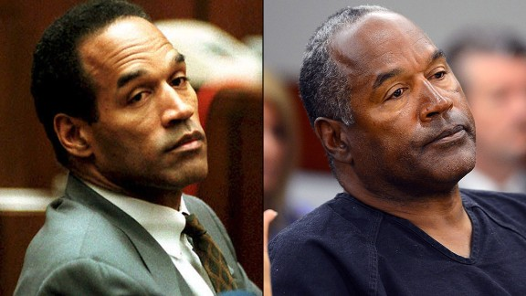 O.J. Simpson: On June 17, 1994, Simpson was charged with the murders of Simpson and Goldman. After a lengthy, high profile trial, he was found not guilty. He later lost a civil trial and was ordered to pay millions in damages. Today, Simpson is behind bars after being convicted in a 2007 kidnapping and robbery. He is scheduled to have a parole hearing on July 20.