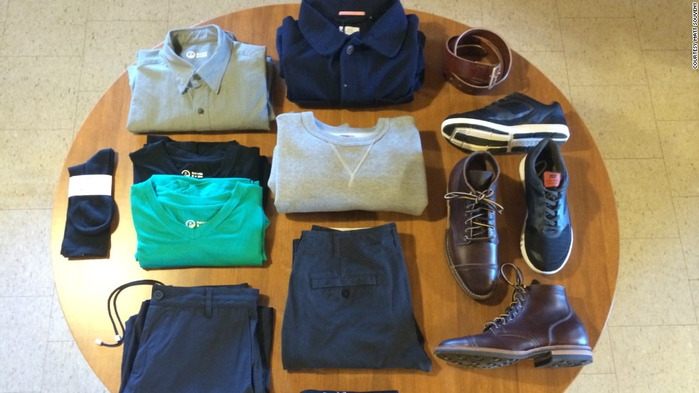 "Matt Souveny has <a href=""http://www.thisstylishlife.com/"" target=""_blank"">pared down his closet</a> to 10 items for the next year, excluding socks, underwear and outerwear. Most of his wardrobe comes from American clothing company Outlier and other brands that specialize in performance gear."