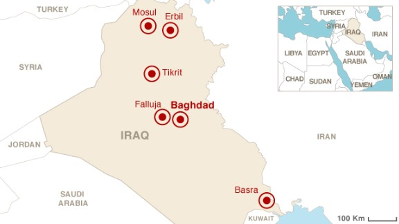 Map: Unrest in Iraq