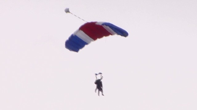 Bush Sr. sky-dives on 90th birthday