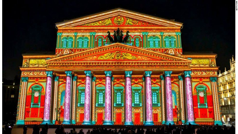 International Circle of Light Festival at the Bolshoi Theater.
