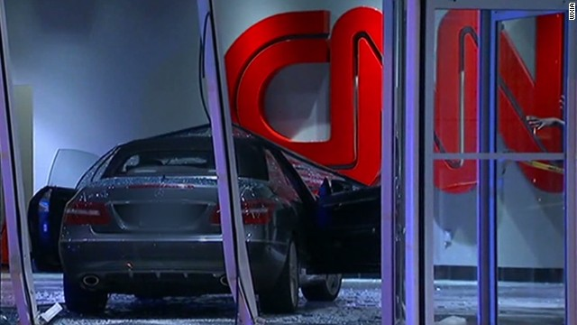 Mercedes crashes into CNN Center