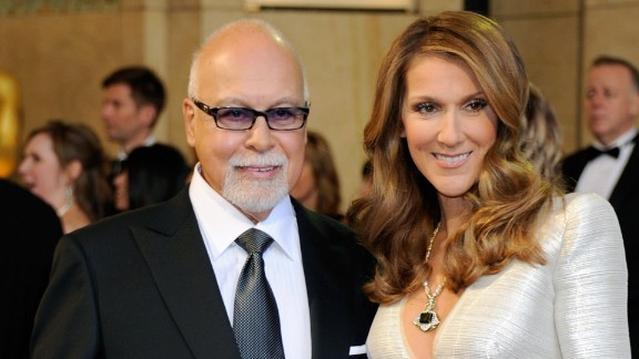 Celine Dion is shown with husband Rene Angelil at the Oscars in 2011. The couple and their three sons live in Las Vegas.