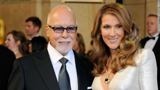 Rene Angelil and his wife, singer Celine Dion, arrive at the 83rd Annual Academy Awards at the Kodak Theatre February 27, 2011 in Hollywood, California.