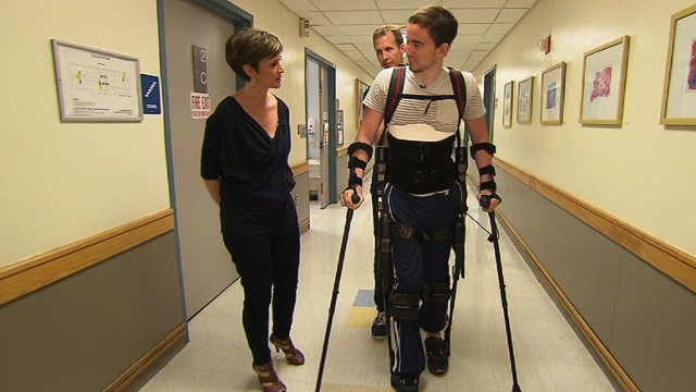 Walking again, with a robotic exoskeleton