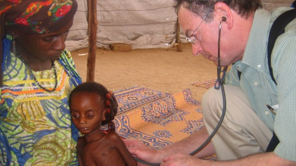 Richard Rockefeller, great grandson of John Rockefeller, died in a plane crash in Westchester County, New York on June 13.  Rockefeller, right, examines a chold in Nigeria during 2009.