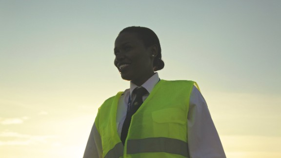 """Mbabazi may have achieved her goal of becoming a pilot by 24 years old. Yet her ambitions keep getting bigger. """"When I was younger I used to see the U.N. planes and the World Food Program take relief and foods to war torn areas and I thought to myself I"""