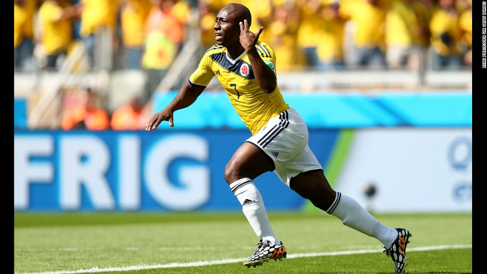 Armero's deflected shot put Colombia ahead after just five minutes of the match against Greece.